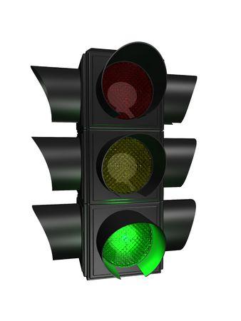 proceed: traffic light