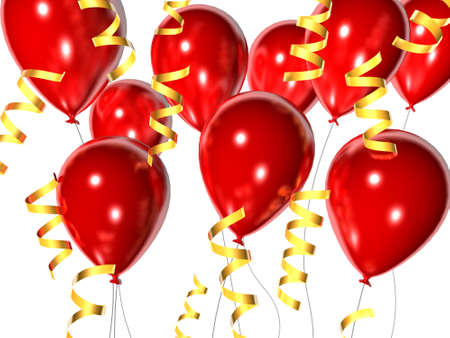 float fun: red balloons