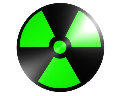 infectious waste: radioactive sign
