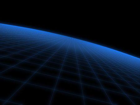 electric grid: digital world Stock Photo
