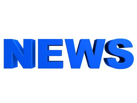 actuality: 3d news Stock Photo