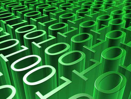 to encode: binary code Stock Photo