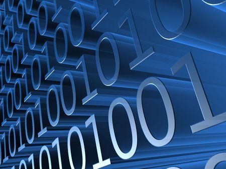 abound: binary code Stock Photo