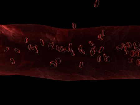 streaming blood cells Stock Photo - 543553