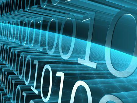 encode: binary code Stock Photo