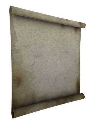 vintage parchement: paper scroll