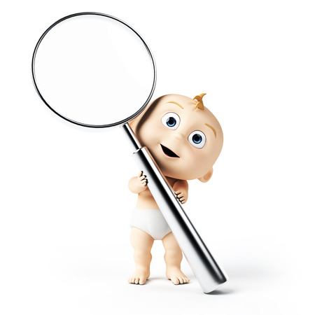 3d rendered toon character - cute baby photo