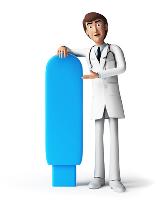 3d rendered toon character - the doctor photo