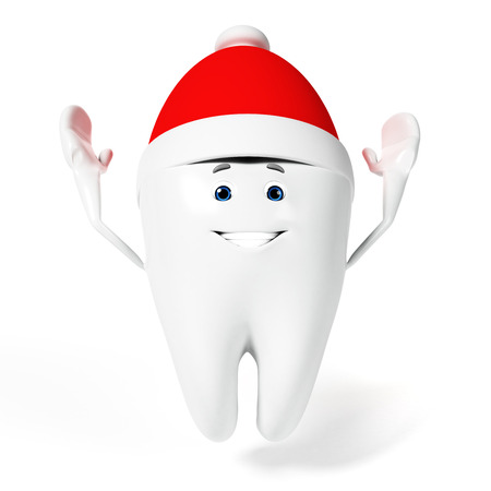 3d rendered toon character - funny tooth photo