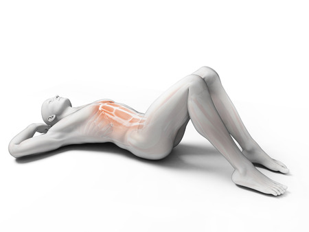 sit ups: 3d rendered illustration of a man doing sit-ups Stock Photo