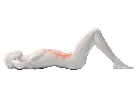 sit up: 3d rendered illustration of a man doing sit-ups Stock Photo