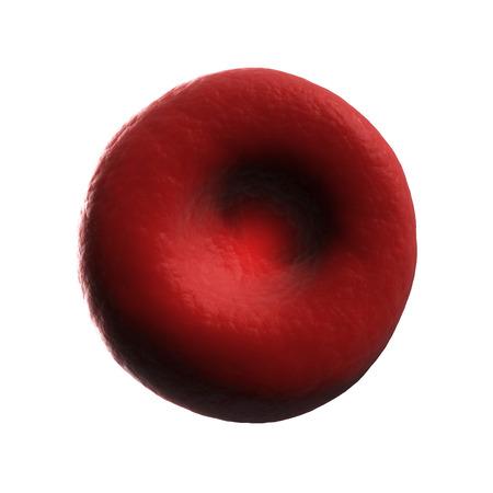 red blood cell: 3d rindi� la ilustraci�n de un gl�bulo rojo humano