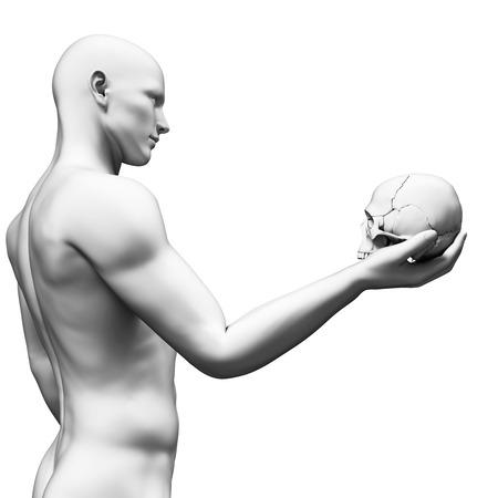 hamlet: white guy holding a skull