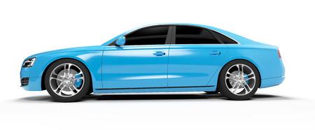 generic: illustration of a concept sports sedan Stock Photo