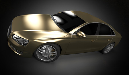 horsepower: illustration of a concept sports sedan Stock Photo