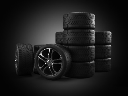 3d rendered illustration of some tires illustration