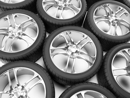 3d rendered illustration of some tires illustration