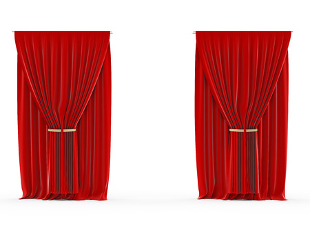 3d rendered illustration of a red curtain illustration
