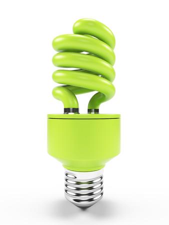 compact fluorescent lightbulb: 3d illustration of an energy saving light bulb