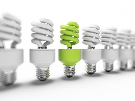 bombillo ahorrador: 3d ilustraci�n de una bombilla de ahorro de energ�a de la luz