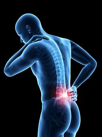 man back pain: a man having acute pain in the back