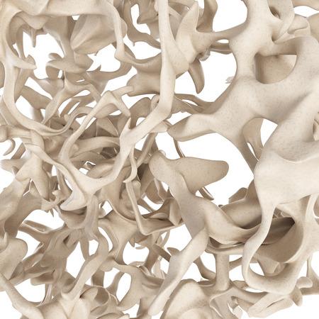body structure: scientific illustration - osteoporosis bone structure Stock Photo