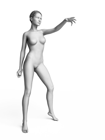 3d rendered illustration of a white female Stock Photo
