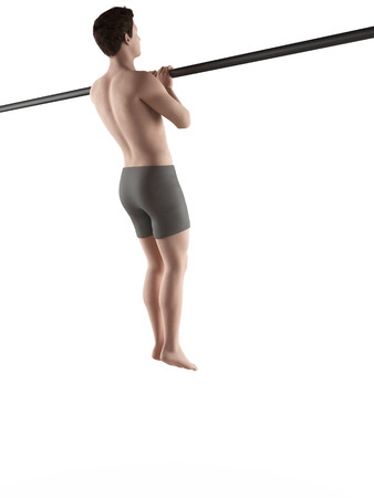 pull: exercise illustration - close grip pull ups