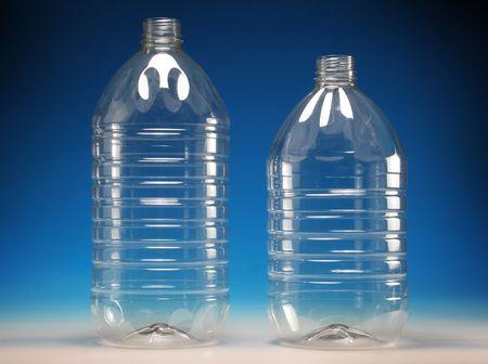 ambiente: Botellas de pl�stico transparente, transparent plastic bottles Stock Photo