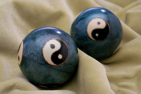 chinese philosophy: A pair of stress balls
