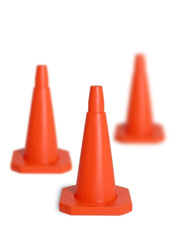 Three traffic cones Stock Photo - 343636