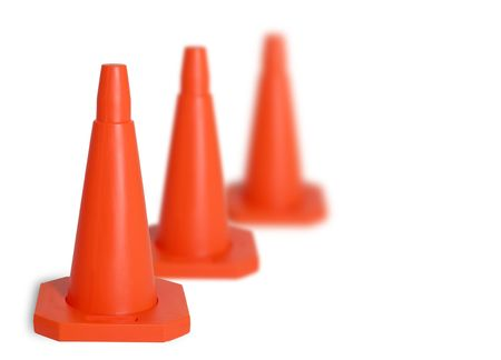 Three traffic cones photo