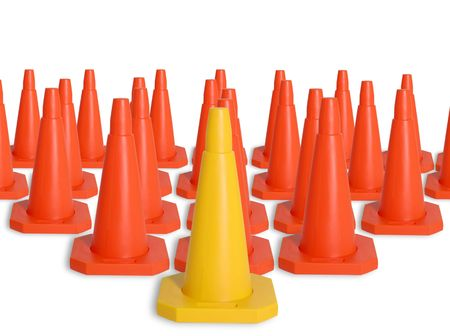 Army of traffic cones photo