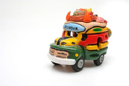 Handcraft souvenir ecuadorian car Stock Photo