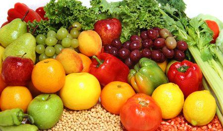 alimentacion balanceada: Deliciosas frutas y hortalizas frescas para una dieta sana y equilibrada