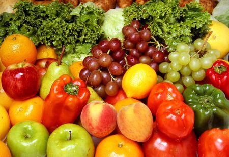 alimentacion balanceada: Frutas y veh�culos frescos deliciosos para una dieta sana y equilibrada