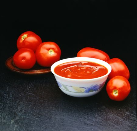Six tomatoes tomatoes for a souce. Look at my gallery for more images of food