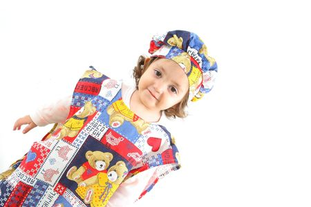 cheff: Cute toddler dressed as a cheff. More pictures of this  at my gallery