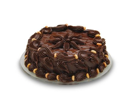 chocolaty: Dark chocolate cake. Well decorated. Look at my gallery for more food images