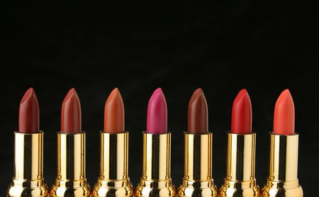 Several lipsticks for make up. I´ve got more fashion images at my gallery Stock Photo