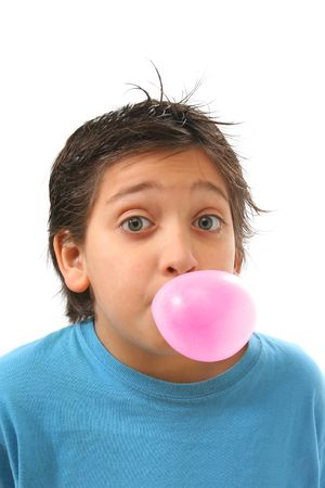 chewed: Bubble gum boy portrait with fun expressions. Look at my galery for more pictures of this model