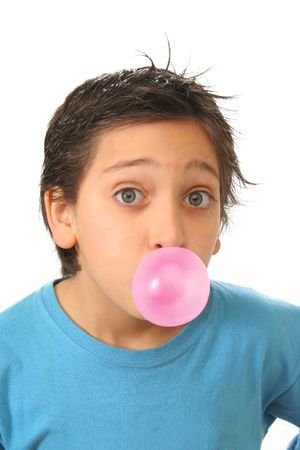 Bubble gum boy portrait with fun expressions. Look at my galery for more pictures of this model photo