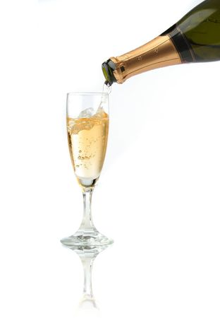 Pouring a champagne flute for celebration time Stock Photo - 597366
