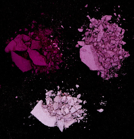 black background: Close up of a make up powder on black background Stock Photo