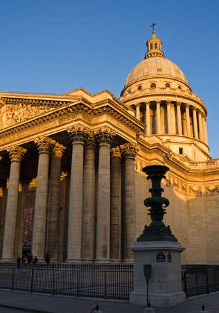 pantheon: The Pantheon at dusk - Paris, France