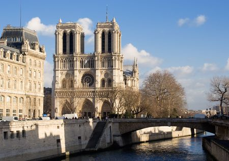 paris france: Notre-Dame cathedral - Paris, France