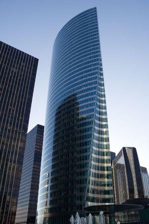 Modern skyscraper in La Defense business district - Paris, France Stock Photo