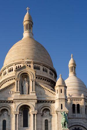 The Sacre Coeur Basilica in Montmartre - Paris, France photo