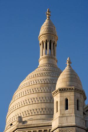 Architecture detail of the Sacre Coeur Basilica - Montmartre, Paris, France photo