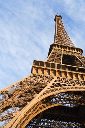 Low-angle view of the Eiffel tower - Paris, France photo